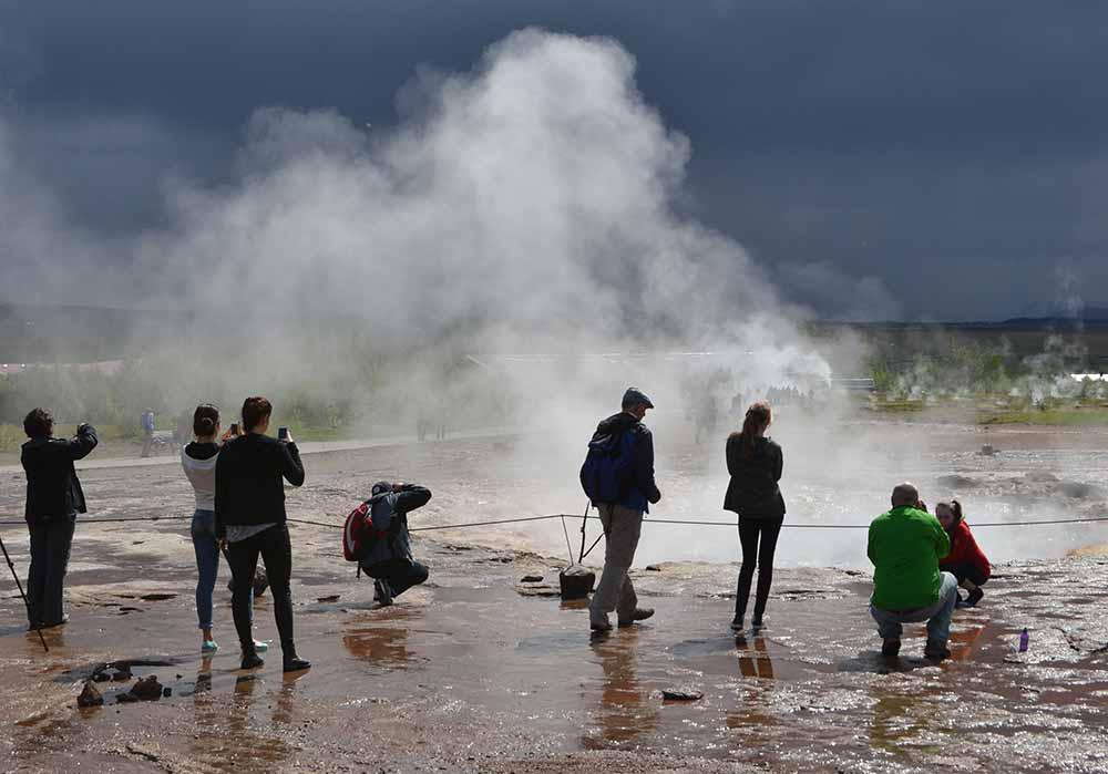 The hot springs at Geysir