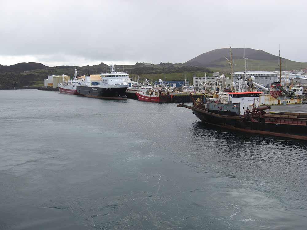 The harbor in Westman Islands