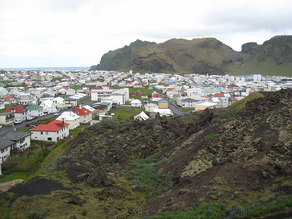 The village in Westman Islands