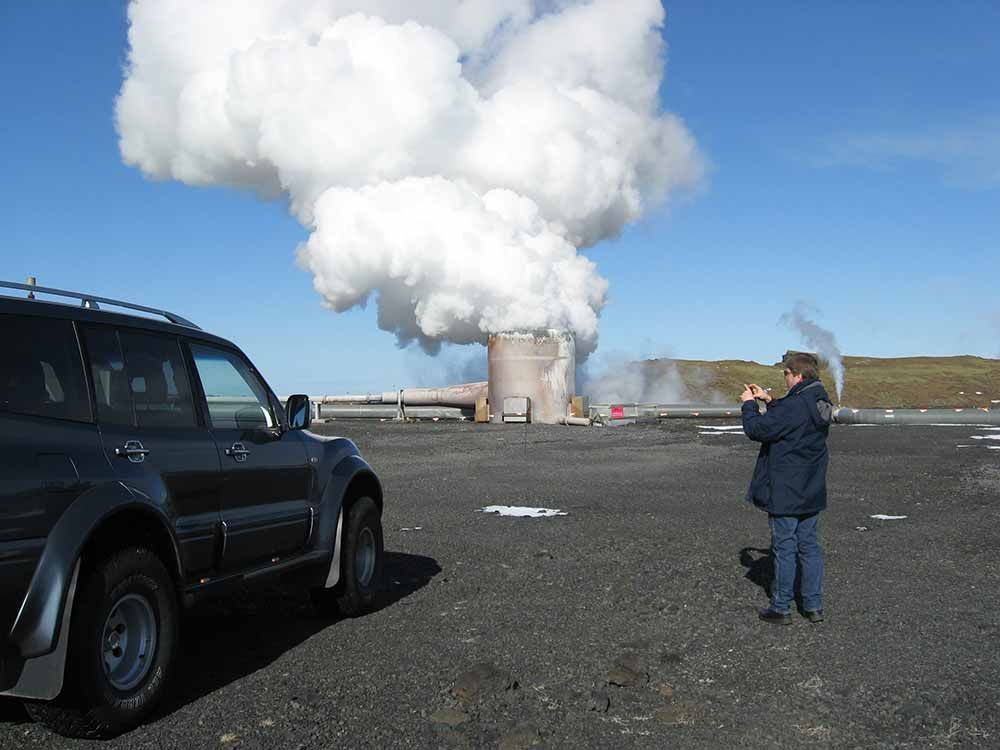 High heat bore hole at Hellisheiði