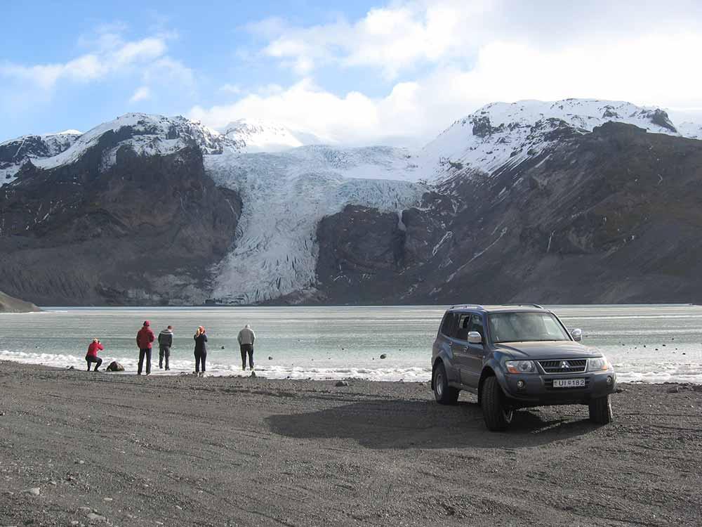 Gígjökull glacier before eruption