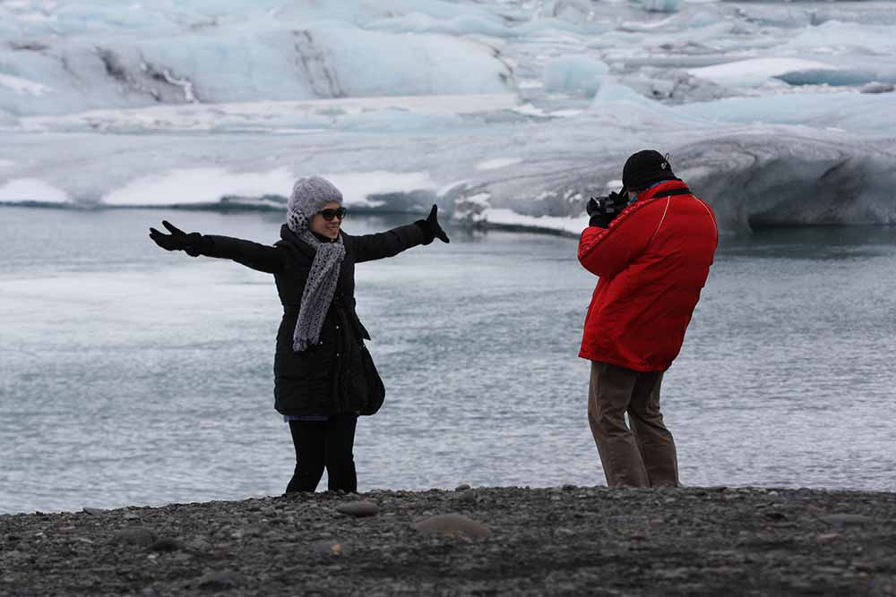 At the lagoon Jokulsárlon