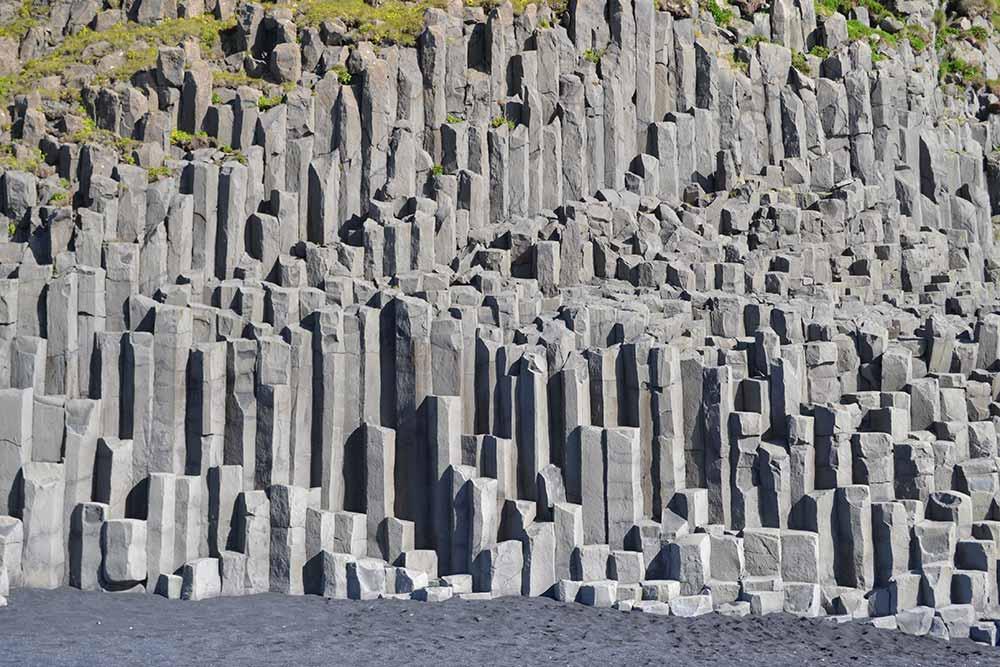The basalt columns in Reynisfjara black beach