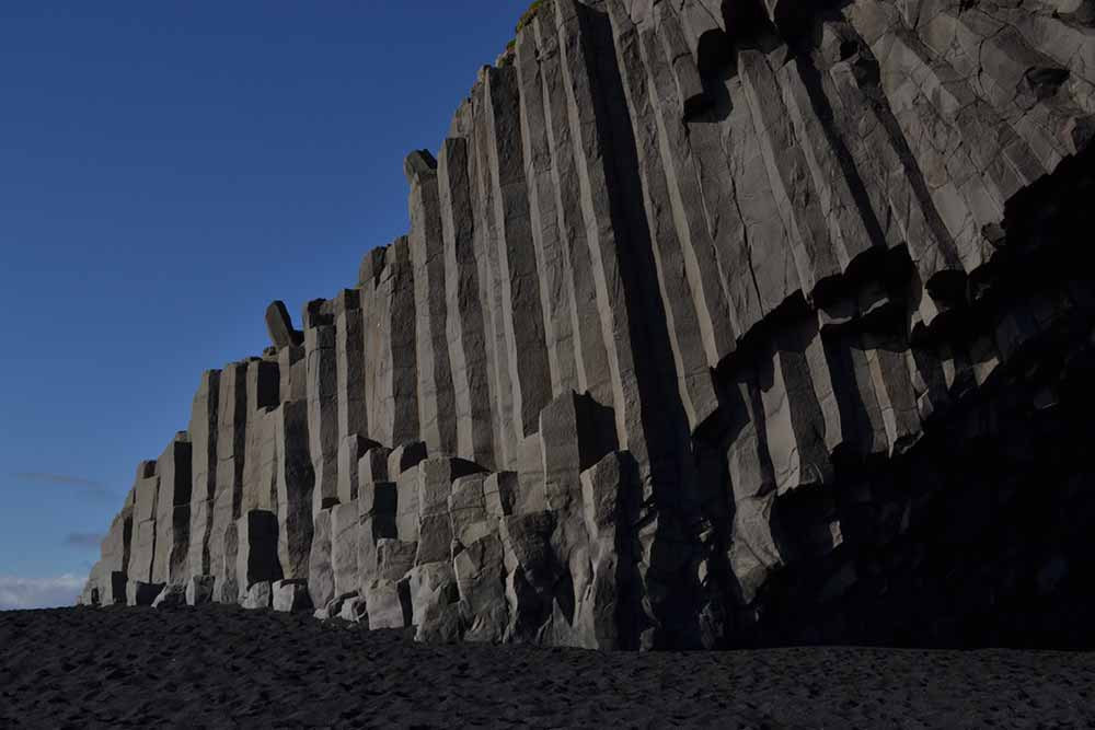 The basalt columns at Reynisfjara in South Iceland